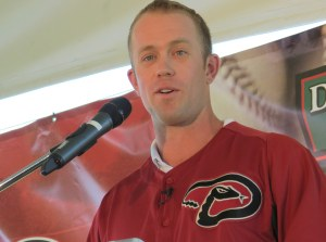 Aaron Hill speaking to the Town of Parker.